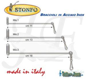 BRACCIOLI IN ACCIAIO INOX STONFO