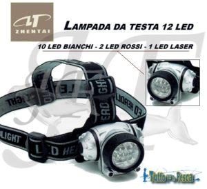 LAMPADA DA TESTA 12 LED