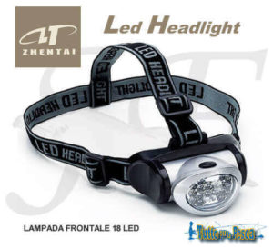 LAMPADA FRONTALE 18 LED ZHENDAI