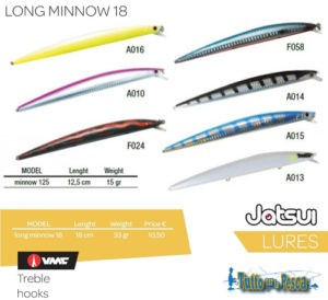 ARTIFICIALE LONG MINNOW 125 MM JATSUI