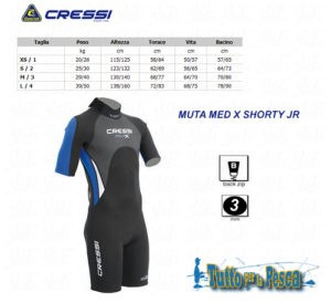 MUTA MED X SHORTY JR 3 MM CRESSI