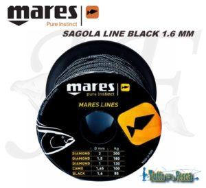 SAGOLA LINE BLACK 1.6 MM MARES