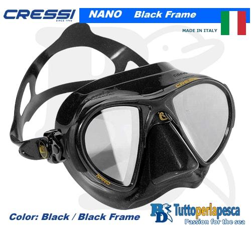 maschera-cressi-nano-dark