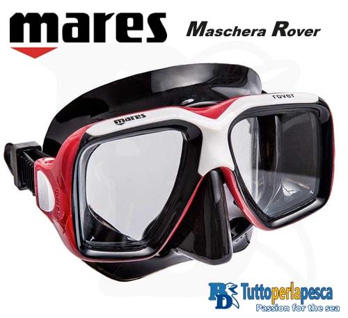 mares-maschera-adulto-rover-nero-rosso