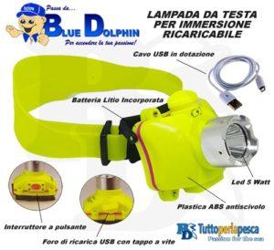 LAMPADA DA TESTA LED RICARICABILE